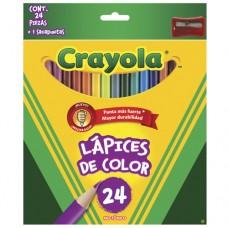 Caja de colores de madera c/24 Crayola