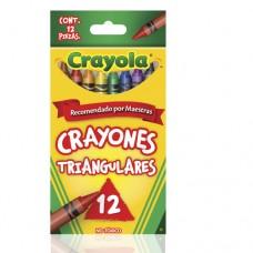 Caja de crayolas triangulares c/12 marca Crayola