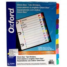 Paquete de 15 separadores para carpeta /Oxford